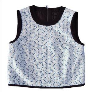 Tibi Lace Crop Top. XS. Size 0. Sleeveless top.